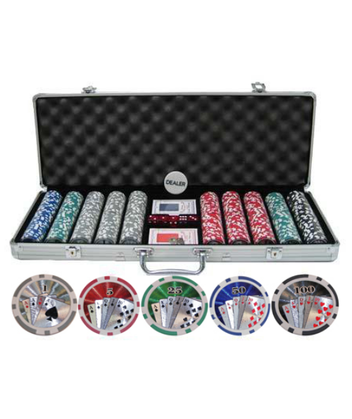 500 PIECE 11.5g Poker Chip Set with CP114