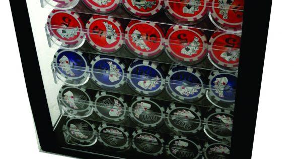 Royal Flush 1000 Piece Poker Chip Set In Acrylic Case Sa